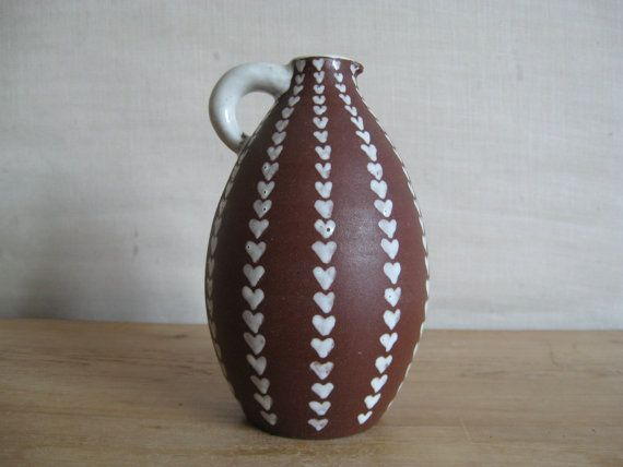 Rare JOSKA Denmark pitcher vase with lots of hearts by danishmood, kr350.00