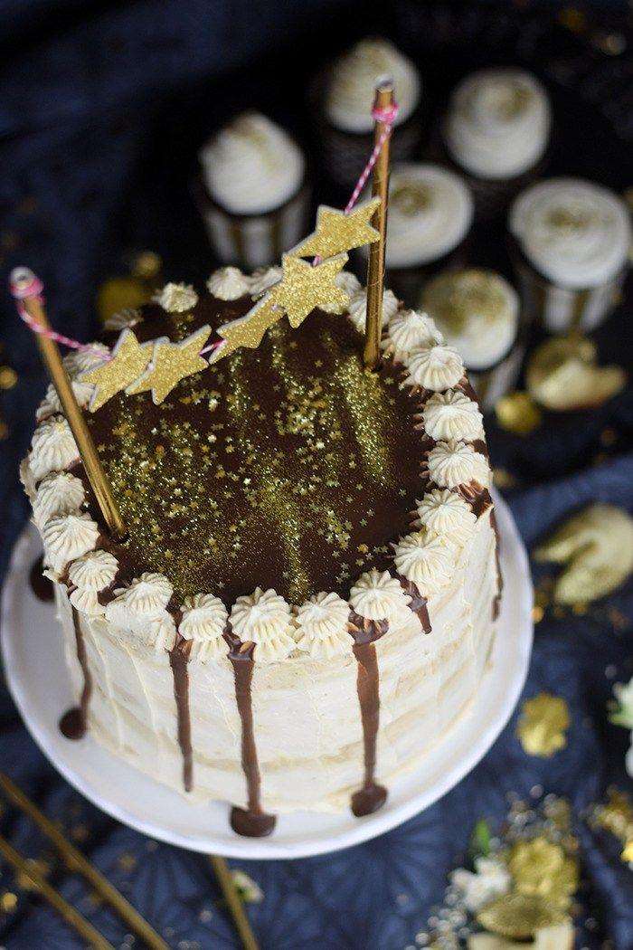 Neujahrstorte - Schoko Kaffee Mokka Torte - Guinnes Cupcakes und Glückskekse mit weisser Schokolade (18)