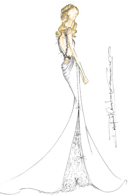 Brides: Jennifer Aniston's Wedding Dress: Designer Sketches | Wedding Dresses | Brides.com