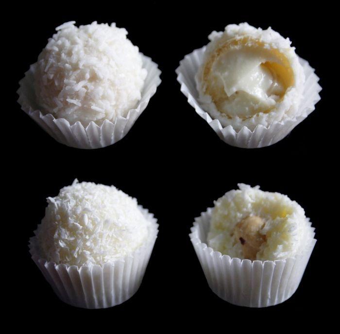 A Raffaello az egyik legkedveltebb édesség, nagyon finom a belsejében lévő ízletes krém, egy szem mandulával dúsítva és a külsejét borító kókuszreszelék. Mivel ez az ínyenc édesség elég drága ma elhoztuk nektek az otthoni elkészítéséhez szükséges receptet. Hozzávalók 70 darabhoz: 200 ml sűrített tej, 200 g vaj, 200 g kókuszreszelék,[...]