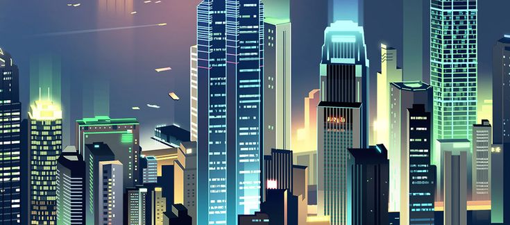 Skylines wallpapers on Behance