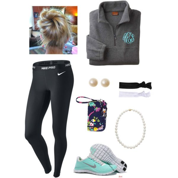 A fashion look from September 2013 featuring NIKE activewear pants, lululemon and Vera Bradley bags. Browse and shop related looks.