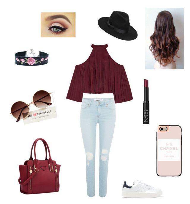 """""""Untitled #45"""" by nat2124 on Polyvore featuring W118 by Walter Baker, Paige Denim, adidas Originals, Lack of Color, Casetify and NARS Cosmetics"""