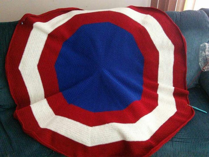 Free Crochet Pattern For Captain America Blanket : 1000+ images about Crochet patterns on Pinterest Crochet ...