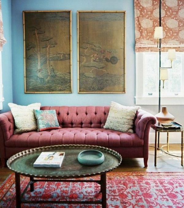 Die besten 25+ Chesterfield Wohnzimmer Ideen auf Pinterest - gemütliches sofa wohnzimmer