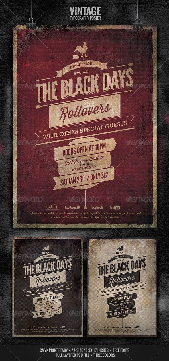 Vintage Typography Poster - GraphicRiver Item for Sale
