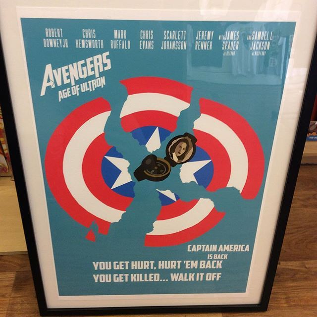 """""""A2 size Avengers fan art print by Huddersfield art student Jack Murphy high quality paper framed ready to hang £95 Instore now and on our depop store #avengers #marvelgifts #avengersart"""" Photo taken by @diversionsgifts.co.uk on Instagram, pinned via the InstaPin iOS App! http://www.instapinapp.com (07/03/2015)"""