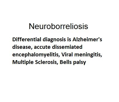 Symptoms: of neuroborreliosis including meningoridiculitis = inflammation of the meninges and spinal nerve roots [http://medical-dictionary.thefreedictionary.com/meningoradiculitis]