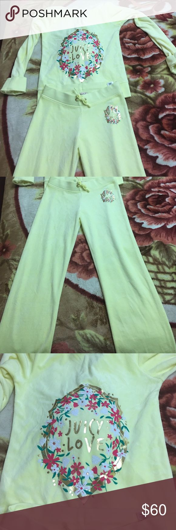 Authentic Juicy Couture Suede SweatSuit Never used Juicy Couture SweatSuit Juicy Couture Matching Sets
