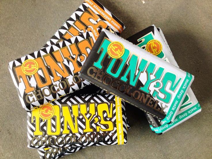 Tony's Chocolonely Limited Editions: banaan/walnoot, sinaasappel/rozemarijn of drop!