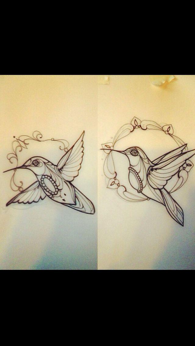 Neo traditional hummingbird tattoo flash (for my mom)