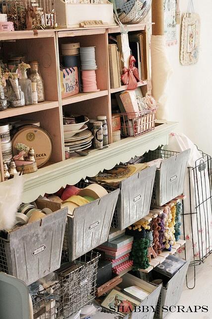 organization of craft supplies!