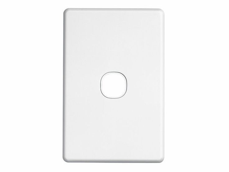 Clipsal One 1 Gang Single Wall Plate Classic Series Light Switch C2031VH White