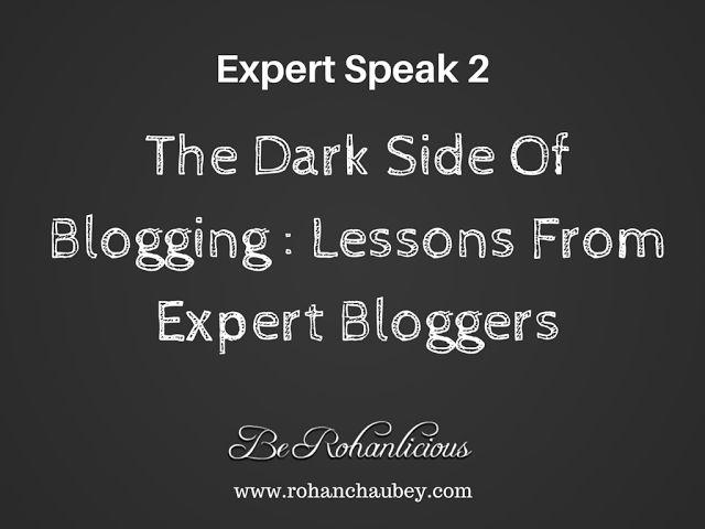 The Dark Side Of Blogging - Expert Speak.