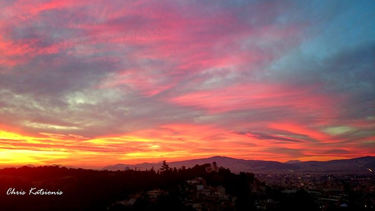 Travel in Clicks: Sunset in Athens