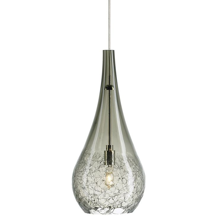 Lbl lighting seguro collection lv monorail mini pendant smoke art glass with satin nickel finish
