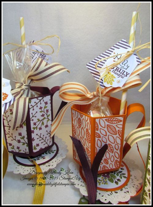 Cup Video Tutorial using the Envelope Punch board, includes measurements