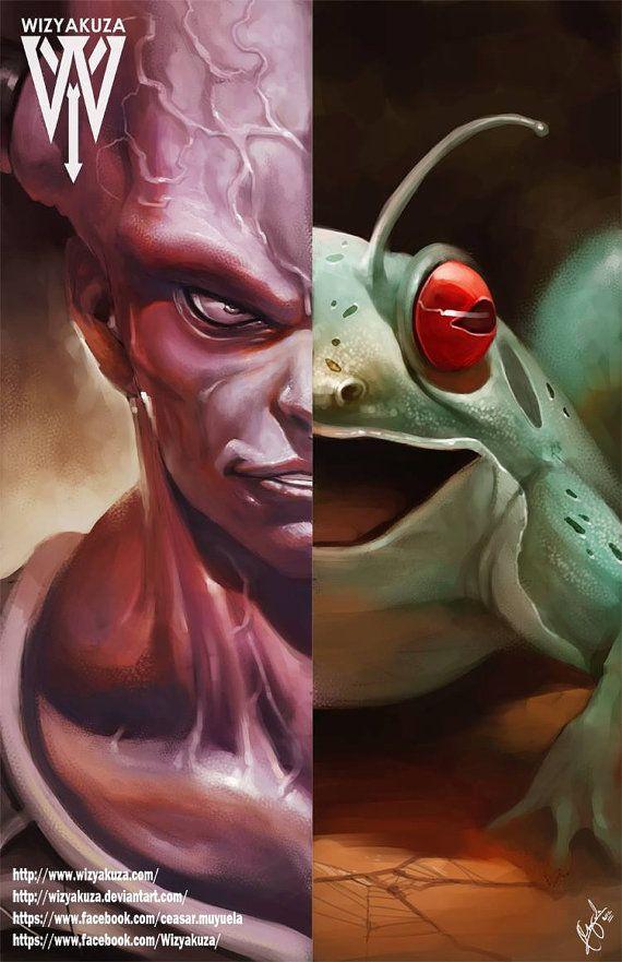 Captain Ginyu & Namekian Frog Split Body Change by Wizyakuza