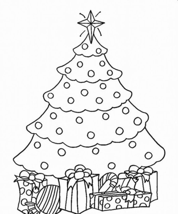 16 best tree coloring page images on Pinterest   Xmas trees ...