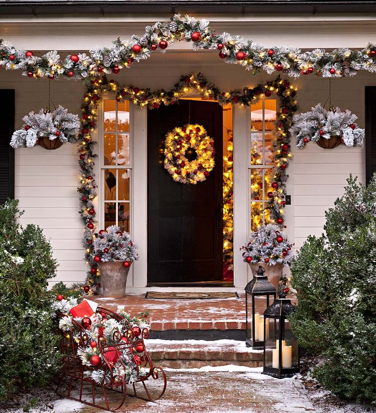 114 best easy christmas decor images on pinterest christmas deco fairfax lighted decorated holiday garland holiday greenery mozeypictures Images