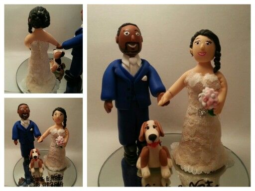 Personalised cake topper #wedding #caketopper #bespoke #personalised Made by Marina www.facebook.com/madebmarina