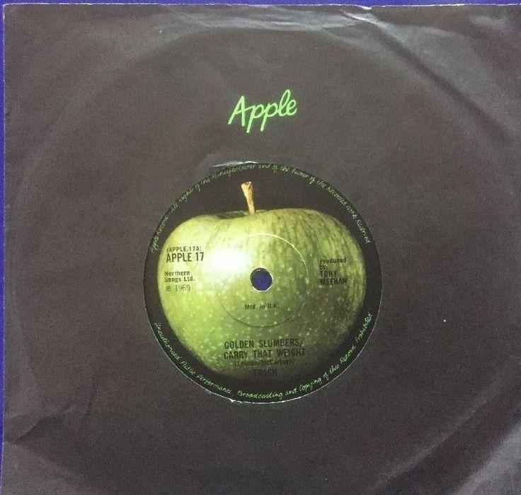 """Golden Slumbers carry that weight 7"""" VINYL, ex Apple Records"""