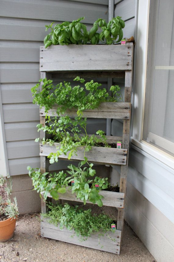 Wood Pallet Herb Garden by WoodPoste on Etsy