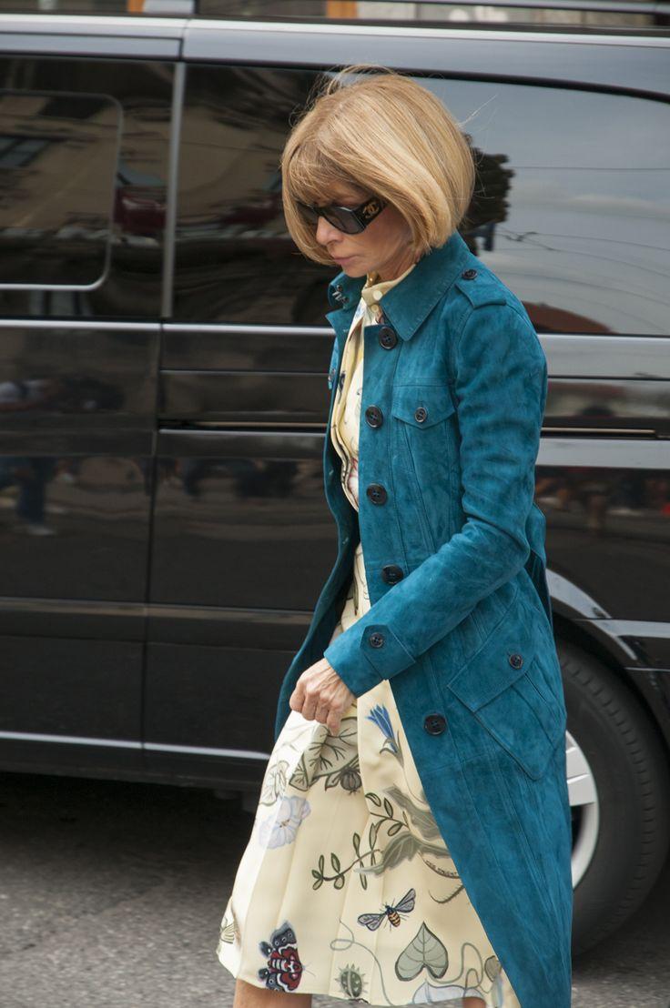 Milan Female Fashion Week SS15 - Anna Wintour @ Gucci show #mfw #milanfashionweek #gucci  #outfitideas