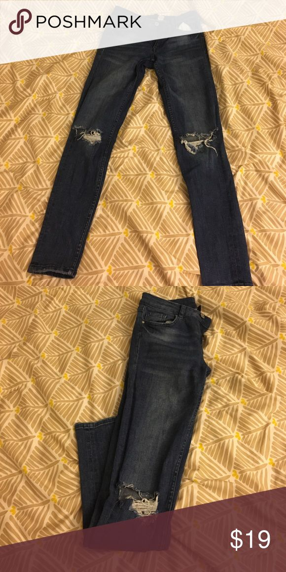 Knee cut jeans!! Midrise skinny jeans with knee cut !👖 H&M Jeans Skinny