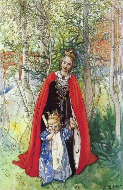 Spring Princess-(Carl Larsson,Swedish Painter 1853-1919).