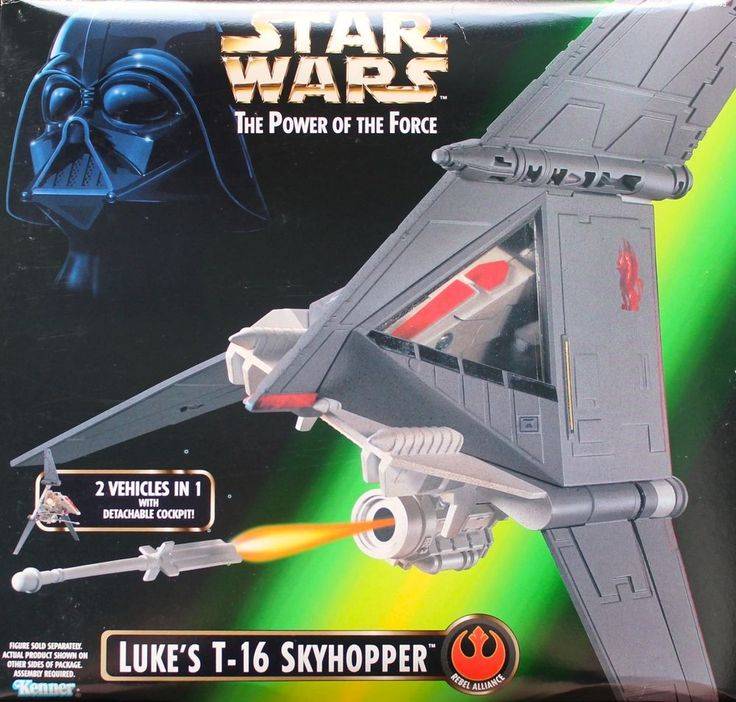 1998 Star Wars Power of the Force Luke's T-16 Skyhopper 2 Vehicles in One