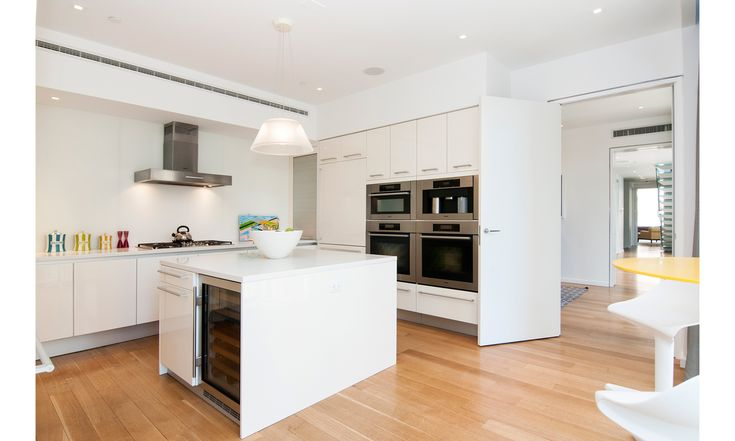 The Kitchen of a $10 million condo overlooking Park Avenue.