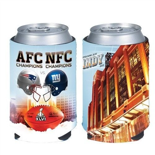Super Bowl XLVI 2012 Patriots Giants Dueling Helmets Can Cooler