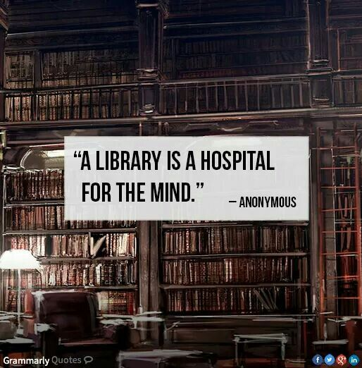 A library is the hospital for the mind. -- Anonymous