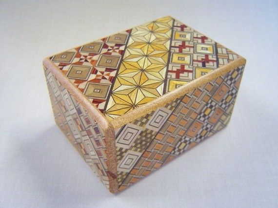 Japanese Puzzle box (Himitsu bako)- 3.5inch(90mm) Open by 4steps