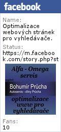 MiniPortál Plzeň: TEL: 777 857 022 Alfa - Omega servis. Bohumír Průcha. Optimalizace webových stránek pro vyhledávače. Copywriting. VFB Media: tvorba webových stránek, tvorba webových prezentací, grafické zpracování webových stránek Václav Bartoš. SEO Plzeň - optimalizace webových stránek pro vyhledávače v Plzni. telefon: (+420) 777 857 022   WFB Media telefon: (+420) 777 857 021  tvorba webových stránek  tvorba webových prezentací