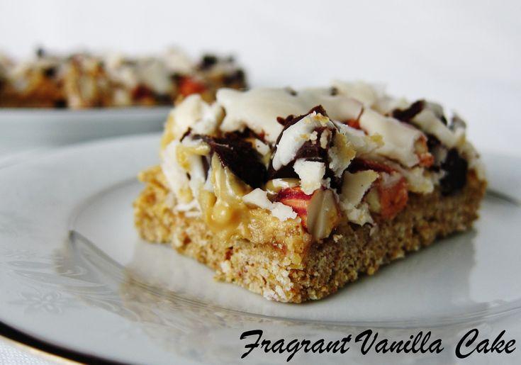 Raw 7 Layer Bars from Fragrant Vanilla Cake