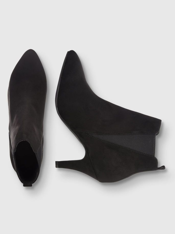 LOW HEEL CHELSEA BOOTS, Black, large