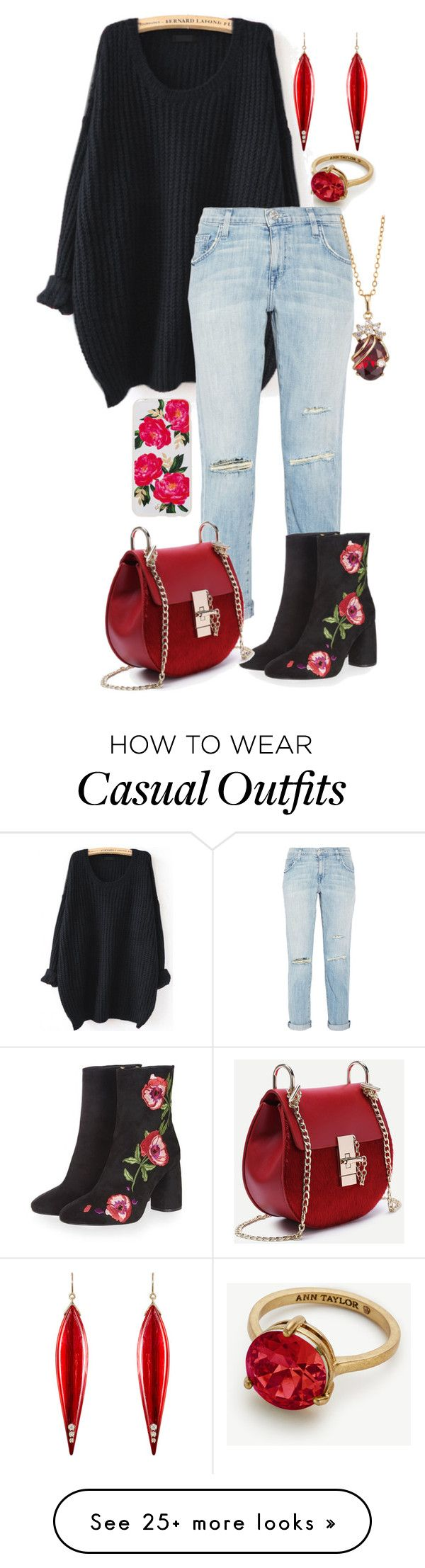 """Casual New Year"" by major-12 on Polyvore featuring Ann Taylor, WithChic, Current/Elliott, Topshop, Sonix and Mark Davis"