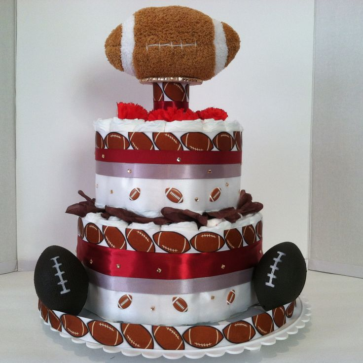 Football Diaper Cake by VeraMaeCollection on Etsy
