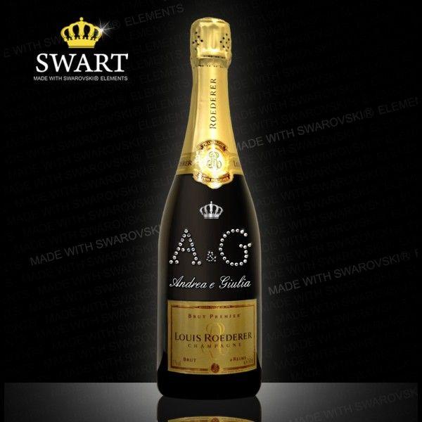 Champagne Louis Roederer personalizzabile con le iniziali degli sposi. Un regalo originale!