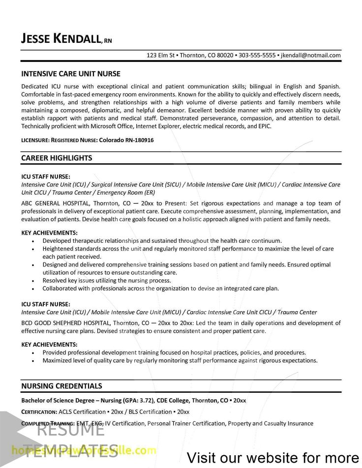 13+ cv template creative free in 2020 Nursing resume