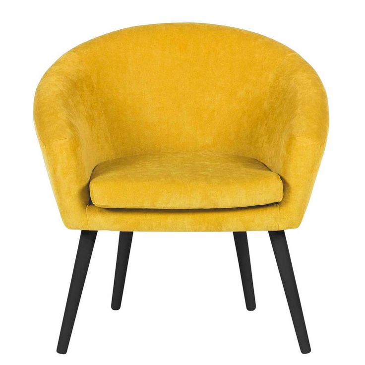 Scando fotel klubowy żółty - styl PRL