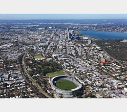 Aerial view Subiaco Oval