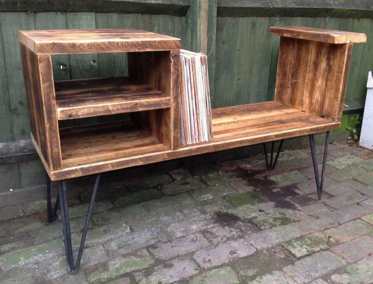 Rustic Record Player Unit/ Record storage cupboard/ Vinyl storage unit by CozyDesignsUK on Etsy https://www.etsy.com/listing/456622092/rustic-record-player-unit-record-storage