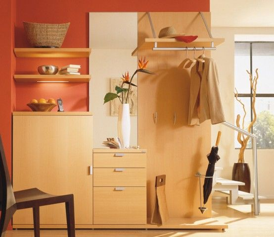 Extraordinary Hall Furniture by Hulsta: Extraordinary Hall Furniture By Hulsta With Wooden Closet And Clothes Hanger Design