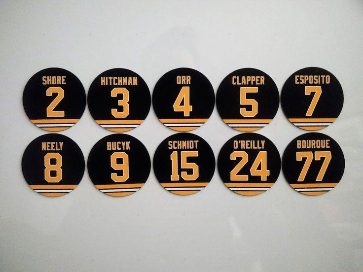 Boston Bruins Magnets Jersey design - Select a player - Bruins Retired Jerseys #Unbranded #BostonBruins