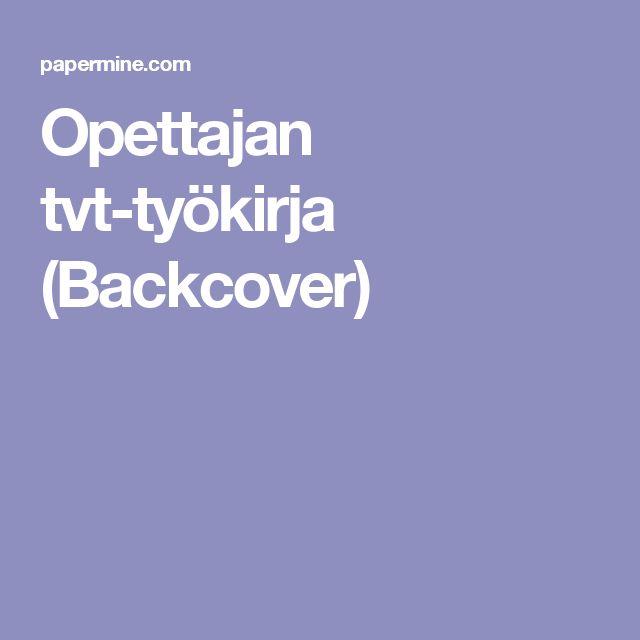Opettajan tvt-työkirja (Backcover)