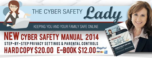 The Cyber Safety Lady-- great blog on how to keep your kids safe and fill you in on current threats online!