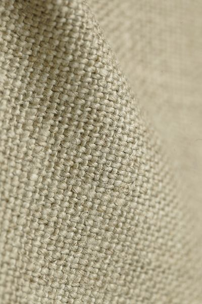 Tissu tapissier 100% pur lin coloris Naturel